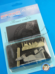 Aires: Cockpit set 1/72 scale - Lockheed Martin F-22 Raptor - photo-etched parts and resin parts - for Fujimi kit