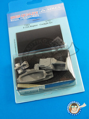 Aires: Cockpit set 1/72 scale - Lockheed Martin F-22 Raptor - photo-etched parts and resin parts - for Revell kit