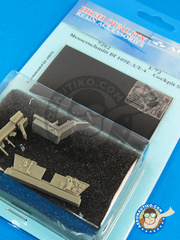 Aires: Cockpit set 1/72 scale - Messerschmitt Bf 109 E-3 / E-4 - photo-etch and resin parts - for Airfix kit