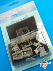 Aires: Cockpit set 1/72 scale - Grumman F-14 Tomcat - resins and photo-etched parts - for Fujimi kit