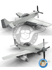 Airfix: Airplane kit 1/48 scale - North American P-51 Mustang D - Ukranian - plastic parts, water slide decals and assembly instructions