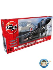 Airfix: Airplane kit 1/48 scale - McDonnell Douglas FG.1 Phantom II - November 1978 (GB0); Somerset, England 1971 (GB0) - Naval Air Squadron - plastic parts, water slide decals and assembly instructions