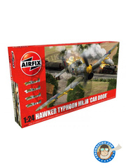 Airfix: Airplane kit 1/24 scale - Hawker Typhoon Mk.IB Car Door - plastic parts, water slide decals and assembly instructions
