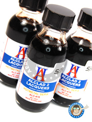 Alclad: Paint - Hot Metal Sepia - 30ml bottle - for Airbrush