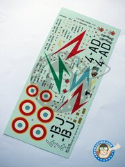 Berna Decals: Marking / livery 1/32 scale - Dassault Mirage IIIE - Luxeuil, 1966 (FR0); Luxeuil, 1966  (FR0) - Armée de l'Air - water slide decals and placement instructions - for all kits
