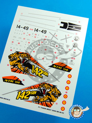 Berna Decals: Decals 1/48 scale - Dassault Mirage F1 M - Los LLanos, Albacete (ES0) - 15th Wing Spanish Air Force 2006 image