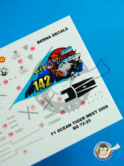 Berna Decals: Marking / livery 1/72 scale - Dassault Mirage F1 M - Los LLanos, Albacete (ES0) - 14th Wing Spanish Air Force 2008