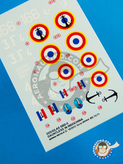 Berna Decals: Decals 1/72 scale - Douglas SBD Dauntless 5 - Armée de l'Air (FR3) - Indochine war 1944, 1945, 1947 and 1948 image