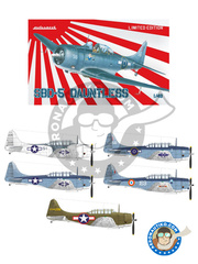 Eduard: Airplane kit 1/48 scale - Douglas SBD Dauntless 5 - RNZAF (NZ2); USAF (US7); USAF (US6); Armée de l'Air (FR3) - plastic model kit image
