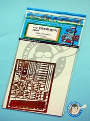 Eduard: Photo-etched parts 1/32 scale - A6M5 Zero exterior - Japan - photo-etched parts and assembly instructions - for Tamiya kit reference 60318