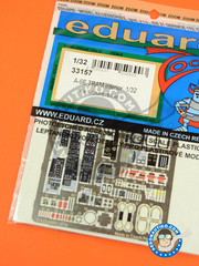 Eduard: Coloured photo-etched cockpit parts 1/32 scale - Grumman A-6 Intruder E TRAM - full colour photo-etched parts - for Trumpeter reference 02250