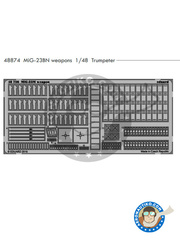 Eduard: Photo-etched parts 1/48 scale - Mikoyan-Gurevich MiG-23 Flogger BN - for Trumpeter reference 05801 image