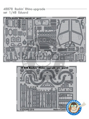 Eduard: Photo-etched parts 1/48 scale - McDonnell Douglas F-4 Phantom II J - for Academy reference 12315, or Eduard reference 1143