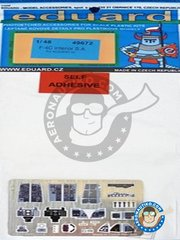 Eduard: Photo-etched parts 1/48 scale - F-4C Interior - full colour photo-etched parts and photo-etched parts - for Academy kits