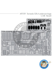 Eduard: Photo-etched parts 1/48 scale - Panavia Tornado GR. 4 - for Revell kit REV04924