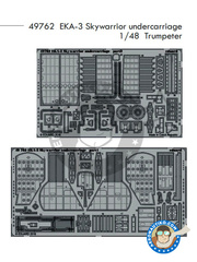 Eduard: Photo-etched parts 1/48 scale - Douglas A-3 Skywarrior EKA-3 - photo-etched parts and assembly instructions - for Trumpeter kit 02872