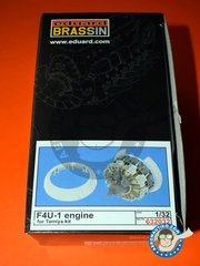 Eduard: Brassin detail up set 1/32 scale - Vought F4U-1 Corsair Pratt&Whitney Engine 1937 - photo-etched parts, resin parts and assembly instructions - for Tamiya reference TAM60325