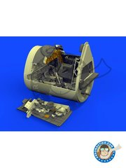 Eduard: Brassin detail up set 1/48 scale - F4U-1D Cockpit -  (US7) - USAF - resin parts and assembly instructions - for Tamiya's kit 60327
