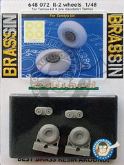 Eduard: Wheels 1/48 scale - Il-2 Wheels - URSS - paint masks, resin parts and assembly instructions - for Tamiya kit reference 61113