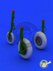 Eduard: Wheels 1/48 scale - Messerschmitt Me 262 Wheels - Luftwaffe - resin parts and assembly instructions - for Tamiya kit