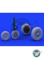 Eduard: Wheels 1/48 scale - F-104 Undercarriage wheels - paint masks, resin parts and assembly instructions - for Hasegawa or Eduard kits