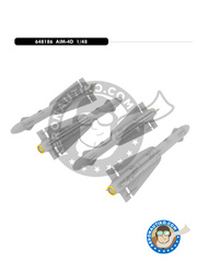 Eduard: Missiles 1/48 scale - Hughes AIM-4 Falcon - different locations - photo-etched parts and resin parts - for for all kits - 4 units