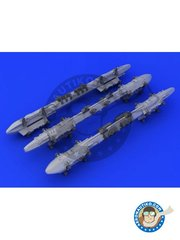 Eduard: Missiles 1/48 scale - MER Multiple Ejector Rack - resin parts, water slide decals and assembly instructions - for all kits