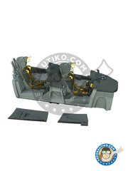 Eduard: Cockpit set 1/48 scale - F-14A Tomcat Cockpit - full colour photo-etched parts, photo-etched parts, resin parts, water slide decals and assembly instructions - for Tamiya kit reference 61114