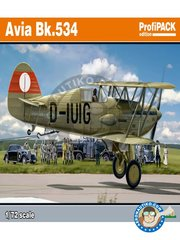 Eduard: Airplane kit 1/72 scale -  Avia Bk.534 -  (CZ0);  (SK2);  (DE2);  () 1939 - full colour photo-etched parts, paint masks, plastic parts, water slide decals and assembly instructions - for  Eduard 72602