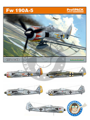 Eduard: Airplane kit 1/72 scale - Focke-Wulf Fw 190 Würger A-5 - Luftwaffe (DE2); July 1943 (DE2); Tunisia, April 1943 (DE2) - plastic image