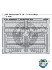 Eduard: Photo-etched parts 1/48 scale - Bristol Beaufighter TF Mk. X - photo-etched parts and assembly instructions - for Airfix kit A04019