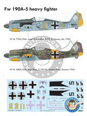 Eduard: Airplane kit 1/72 scale - Focke-Wulf Fw 190 Würger A-5 - Vannes, July 1943 (DE2); Summer 1943 (DE2) - Luftwaffe - plastic parts, water slide decals and assembly instructions image
