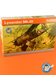 Eduard: Airplane kit 1/48 scale - Westland Lysander Mk III - RAF (GB0); RAF (GB4) - Guadalcanal - full colour photo-etched parts, assembly instructions, plastic parts and water slide decals image