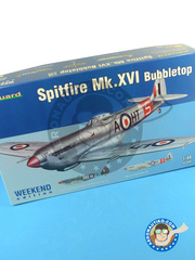 Eduard: Airplane kit 1/48 scale - Supermarine Spitfire Mk. XVI Bubbletop - RAF (GB0) - plastic image