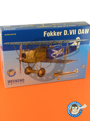 Eduard: Airplane kit 1/48 scale - Fokker D. VII OAW - Russia 1944 (DE2) - World War I - plastic parts, water slide decals and assembly instructions image