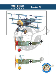 Eduard: Airplane kit 1/48 scale - Fokker F.I - Luftwaffe (DE0) - World War I - plastic parts, water slide decals and assembly instructions