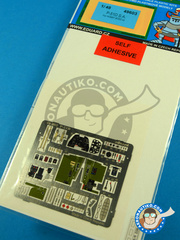 Eduard: Coloured photo-etched cockpit parts 1/48 scale - North American P-51 Mustang D - full colour photo-etched parts and assembly instructions - for Hobby Boss kit