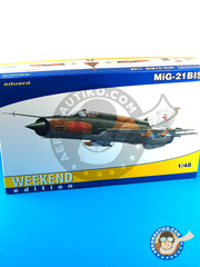 Eduard: Airplane kit 1/48 scale - Mikoyan-Gurevich MiG-21 Fishbed BIS - plastic model kit