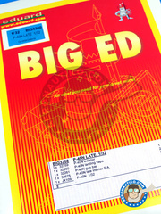 Eduard: Big ED set 1/32 scale - Curtiss P-40 Warhawk N - USAF - paint masks and photo-etched parts - for Hasegawa kit references 08195, 08232