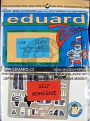 Eduard: Photo-etched parts 1/48 scale - F-4C Interior - full colour photo-etched parts - for Academy kits
