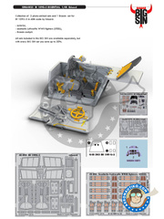 Eduard: BIG SIN 1/48 scale - Messerschmitt Bf 109 G-5 - full colour photo-etched parts, photo-etched parts, resin parts and assembly instructions - for Eduard reference 82112