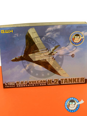 Great Wall Hobby: Airplane kit 1/144 scale - Avro 698 Vulcan K.2 Tanker - RAF (GB1) - different locations - plastic parts, water slide decals and assembly instructions