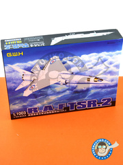 Great Wall Hobby: Airplane kit 1/144 scale - British Aircraft Corporation TSR-2 - plastic parts, water slide decals and assembly instructions image