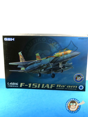 Great Wall Hobby: Airplane kit 1/48 scale - McDonnell Douglas F-15 Eagle I - Israeli Air Force (IL0) - different locations - plastic parts, water slide decals and assembly instructions