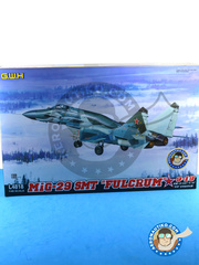 Great Wall Hobby: Airplane kit 1/48 scale - Mikoyan MiG-29 Fulcrum 9-19 SMT - Russian Air Force (RU2) - different locations - plastic parts, water slide decals and assembly instructions image