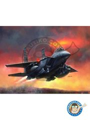 Great Wall Hobby: Airplane kit 1/48 scale - F-15E Strike Eagle - plastic parts, water slide decals and assembly instructions