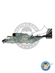 Hasegawa: Airplane kit 1/72 scale - Bell-Boeing V-22 Osprey B Tanker - U.S. Marine (US2) - different locations - plastic parts, water slide decals and assembly instructions