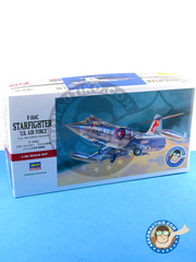 Hasegawa: Airplane kit 1/48 scale - Lockheed F-104 Starfighter C - USAF (US0) - different locations 1963 - plastic model kit image