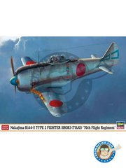 Hasegawa: Airplane kit 1/48 scale - Nakajima Ki44-II Type 2 Fighter Shoki (Tojo) '70th Flight Regiment' - Japan - plastic parts, water slide decals and assembly instructions