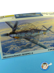 Hasegawa: Airplane kit 1/32 scale - Messerschmitt Bf 109 G-6 - plastic model kit